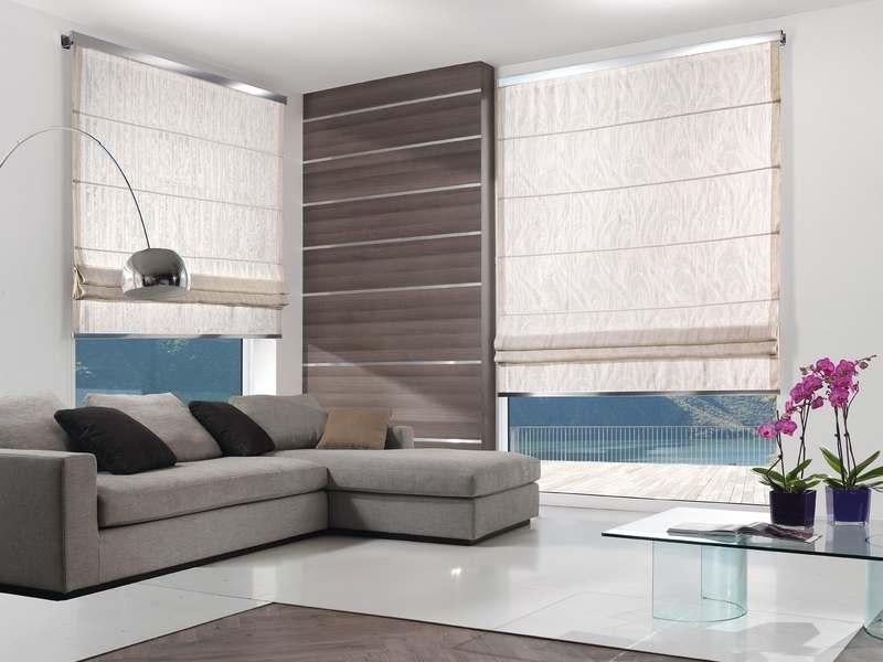 Tende Per Interni Moderne : Tendaggi moderni per soggiorno esempio di un soggiorno moderno
